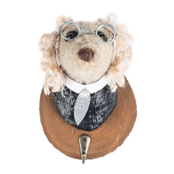 Filzkopf-Haken Hundefigur