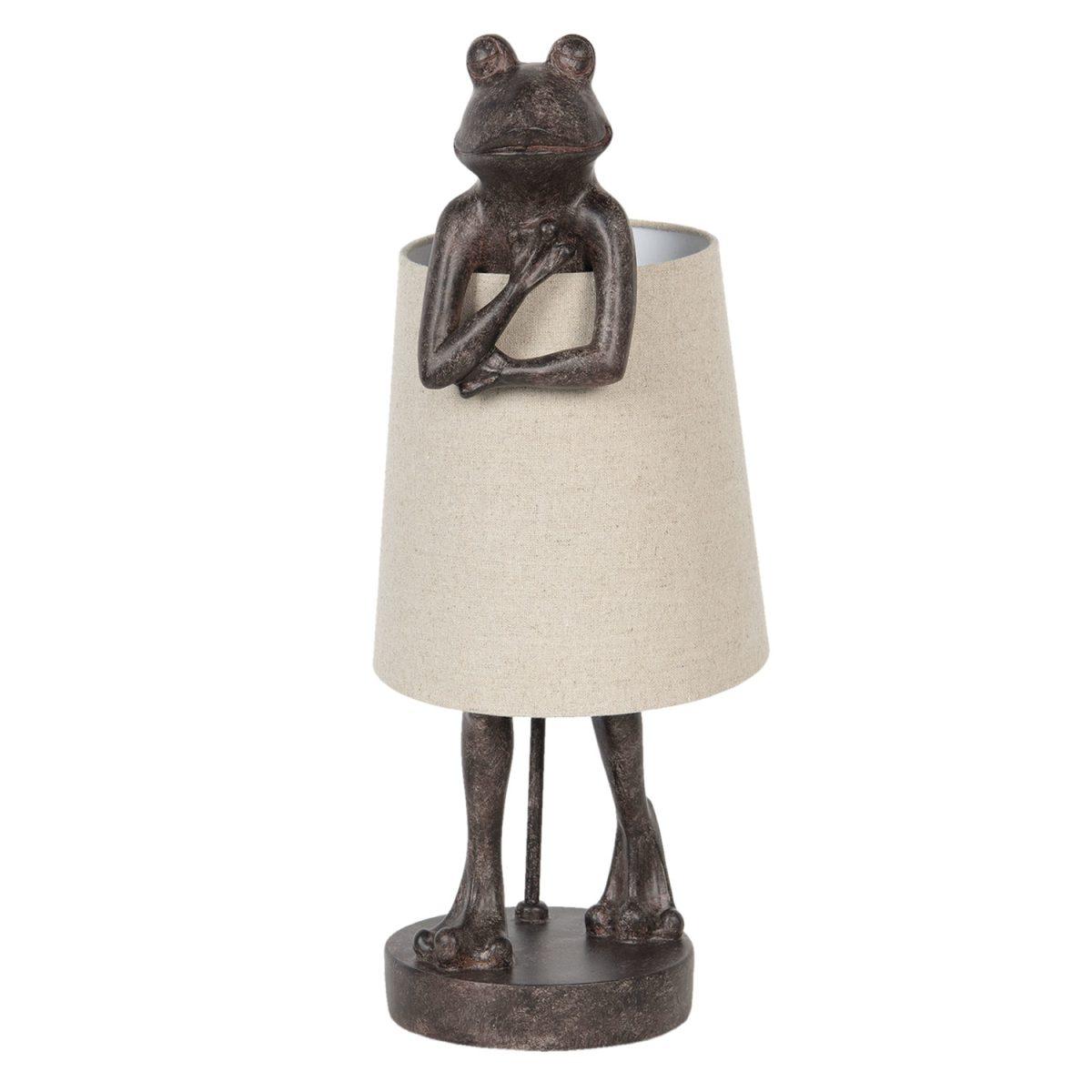Tischlampe mit Froschstatur